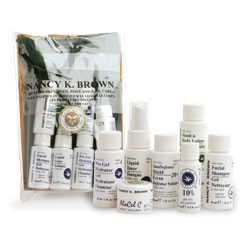 Nancy K Brown : Aloe Vera & Glycolic Skin Care Mini Set for Oily / Acne Prone / Acneic & Congested Skins