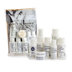 Nancy K Brown : Aloe Vera & Glycolic Skin Product Mini Set for Normal / Combination / Oily / Mature / Aging Skins