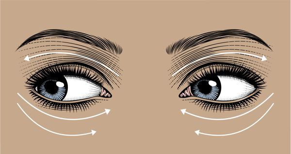 Eye care product proper application to skin illustration by Nancy K Brown